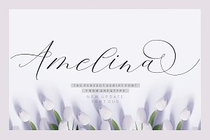 Amelina Script New Update Font Duo