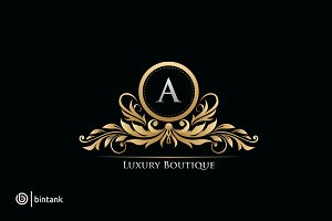 Gold Luxury Boutique Logo