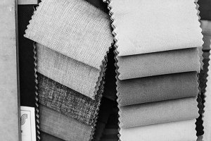 Cloth Samples in Black and White