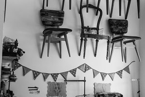 Vintage Chairs Shop in Black White