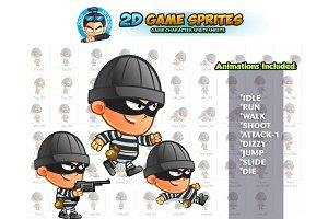 Robber 2D Game Sprites