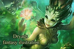 Dryads fantasy art