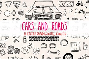 66 Cars and Road Transport Sketches