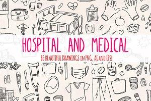 86 Hospital and Medical Vector Art