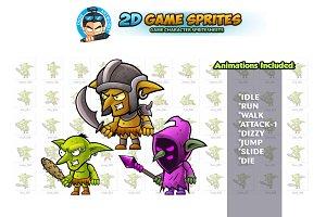 Goblins 2D Game Sprites Set