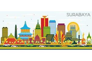Surabaya Indonesia Skyline