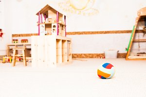 Preschool classroom interiour