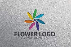 Gorgeous Flower Logo