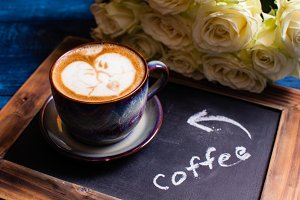 Latte art loving couple