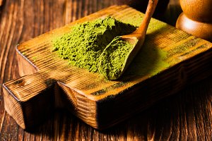 Matcha tea heap