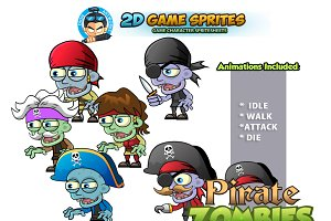 Pirate Zombies Character Sprites Set