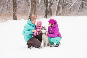 Husky and family