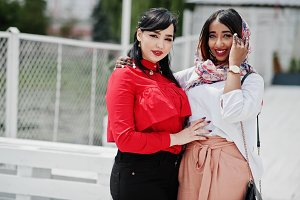 Two stylish arabian girls