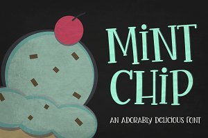 Mint Chip Font + Vectors ~ Display Fonts ~ Creative Market