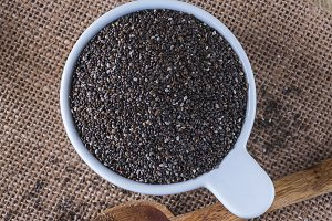 Chia seeds from above