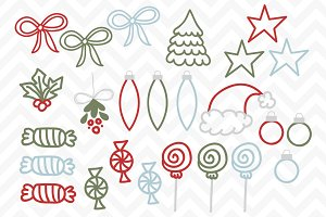 Clip Art Vector Christmas Doodles
