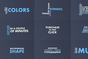 Bouncing Dynamic/Kinetic Typography