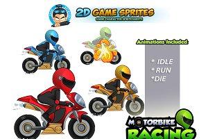 Motorbike 2D Game sprites Set