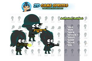 Shadow boys 2D Game sprites Set