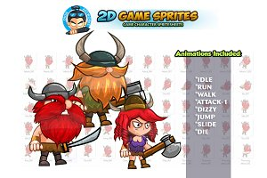 Vikings 2D Game sprites Set