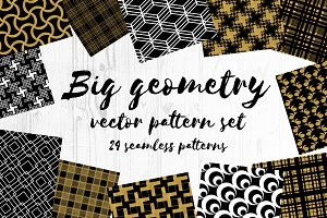 Big  geometry vector  pattern set