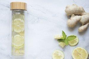 Tea lemon and ginger