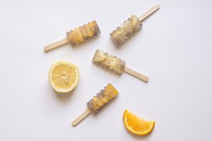 Popsicle chia orange or lemon