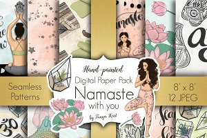Namaste Digital Paper Pack