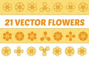 21 Vector Flowers