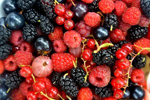 Fresh summer berries background