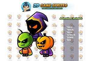 Monster Enemies 2D Game Sprites