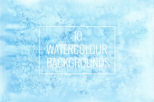10 watercolour backgrounds