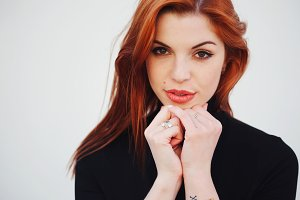 sensual red haired beautiful girl