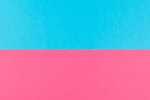 Pink and blue long wide banner