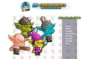 Orc's 2D Game sprites Set