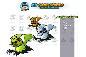 Flying Monster Game Sprites