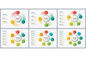Rotating circle chart templates, infographic designs, visualizat