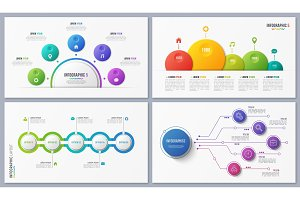 Set of contemporary infographic designs, concepts, templates wit