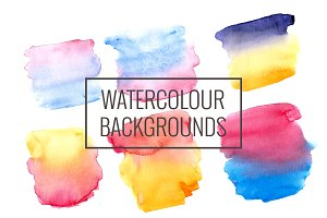 21 hand drawn watercolor backgrounds
