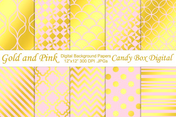 Trendy Gold Foil & Pink Papers