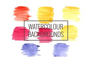 Watercolour backgrounds and brushes