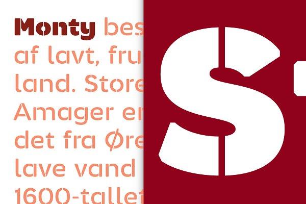 Sans Serif Fonts: Jan-Christian Bruun - Monty Stencil