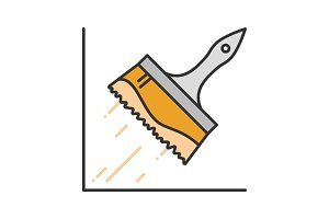 Big paint brush color icon