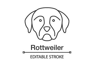 Rottweiler linear icon
