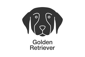 Golden Retriever glyph icon