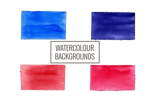 12 rectangle watercolour backgrounds