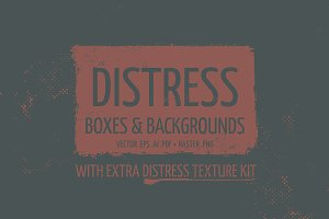 Distress Boxes and Backgrounds