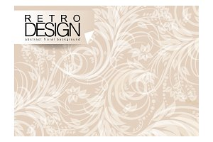 Vector illustration of brown floral
