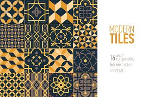 Tiles decorated patterns,ornaments