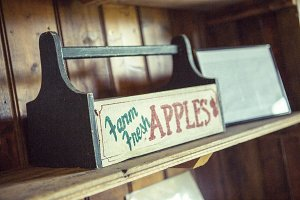 Vintage Apple Box On Shelf